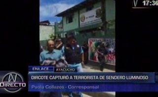 Ayacucho: cayó miembro de célula de aniquilamiento de Sendero