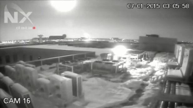 YouTube: explosión de meteorito convirtió la noche en día