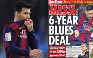 Messi recibe supuesta oferta del Chelsea para dejar Barcelona