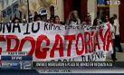 Régimen laboral juvenil: manifestantes en la Plaza de Armas