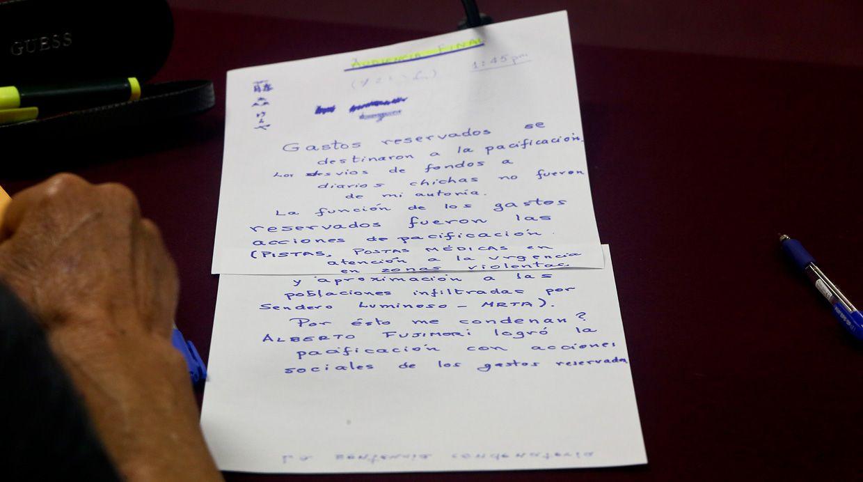 """""""Gastos reservados se destinaron a la pacificación. Los desvíos de fondos a diarios chicha no fueron de mi autoría"""", señaló Alberto Fujimori. (Foto: Alessandro Currarino/ El Comercio)"""