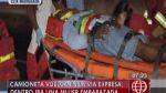 Embarazada quedó herida tras vuelco de camioneta en Vía Expresa - Noticias de estación de bomberos