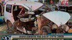 Surco: choque entre taxi y camión congestionó Panamericana Sur - Noticias de choque múltiple