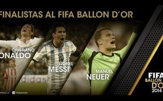 Balón de Oro: conoce a fondo a los tres finalistas de la FIFA
