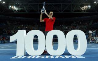Roger Federer logra su victoria 1000 y se corona en Brisbane