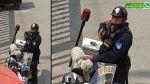 Vía WhatsApp: este es el policía que salvó a perro en carretera - Noticias de policía atropellado
