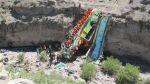 Cusco: más de 20 muertos deja caída de un bus en un abismo - Noticias de vehículos recuperados
