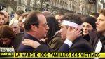 Hollande y su emotivo abrazo con sobrevivientes en plena marcha - Noticias de mahmoud abbas