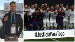 Barcelona y el Atlético pidieron justicia para el 'Topo' López - Noticias de diego armando maradona