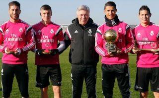 Cristiano Ronaldo compartió Balón de Oro con el Real Madrid