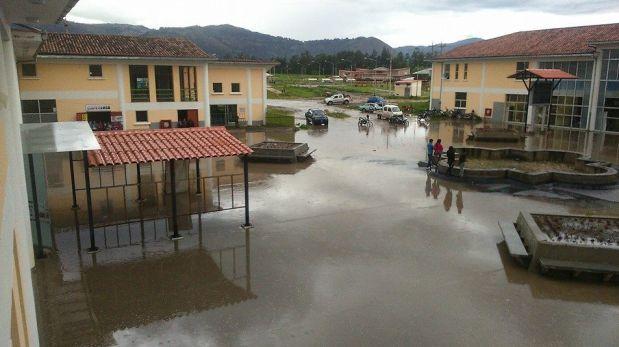Lluvia en Cajamarca causó inundación por mal sistema de drenaje