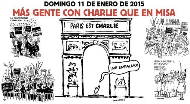 Esta es la página central de Charlie Hebdo tras atentados