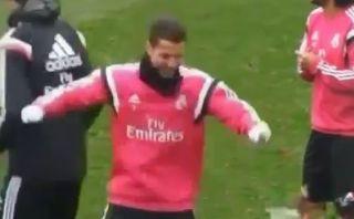 Cristiano Ronaldo hizo extraño baile en práctica de Real Madrid