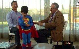 YouTube: hijo de Cristiano Ronaldo apareció vestido de Superman