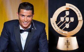 Cristiano ganó premio al Mejor Jugador del Siglo en Portugal