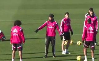 YouTube: Cristiano Ronaldo dirige entrenamiento de Real Madrid