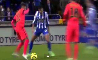 Barcelona: Neymar zafó de rivales de forma increíble (VIDEO)