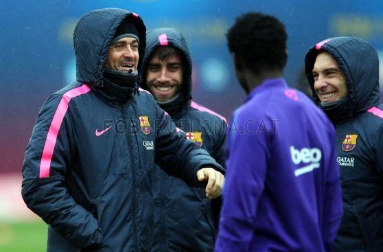 Messi 'celebró' el día después de su 'hat-trick' con mucho frío