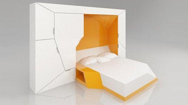 Estos muebles compactos se abren y cierran para armar tu for Muebles para armar en casa