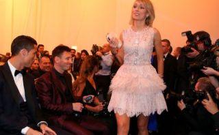 ¿Qué dijo la mujer que atrajo la mirada de Cristiano y Messi?