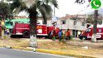 Vía WhatsApp: bomberos chocaron contra un árbol en Comas - Noticias de accidente de carretera