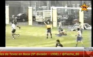 YouTube: Carlos Tevez y los goles que anotaba con solo 14 años