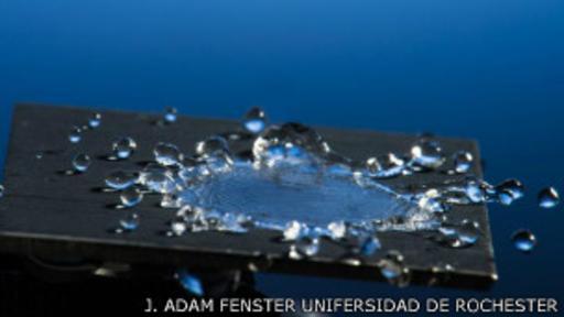 Este metal es capaz de hacer rebotar las gotas de agua