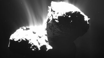 Detectan elementos posiblemente orgánicos en cometa