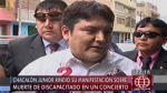 'Chacalón Jr.' negó haber matado a minusválido en concierto - Noticias de murió cantante