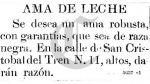 """Se busca ama de leche"": la historia tras este aviso de 1904 - Noticias de raza negra"