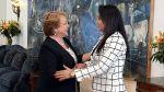 Solórzano se reunió con presidenta chilena Michelle Bachelet - Noticias de corte de la haya