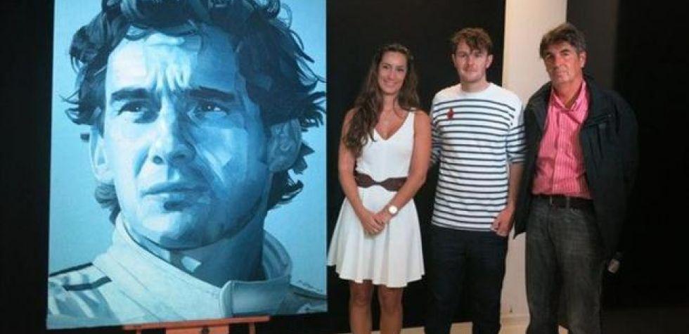 Ayrton Senna: Subastan su retrato hecho con jeans