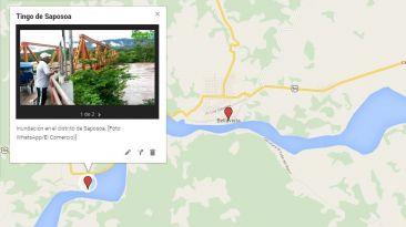 MAPA: localidades afectadas por las inundaciones en San Martín