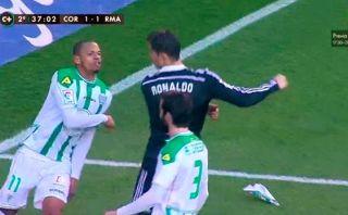 Cristiano Ronaldo fue expulsado por cobarde agresión a rival