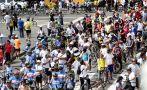 Castañeda participó en bicicleteada por aniversario de Lima