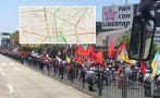 Marcha contra régimen laboral: así va el tráfico en el centro