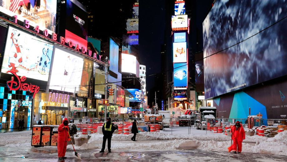 """Así vive Nueva York la anunciada """"Megatormenta"""""""