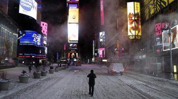 Instagram: así se vive en Estados Unidos la tormenta Juno