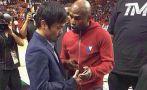 Floyd Mayweather y Pacquiao juntos en la NBA: ¿Qué se dijeron?