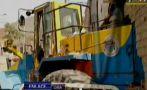 SJL: tractor chocó contra casa hiriendo a dos menores