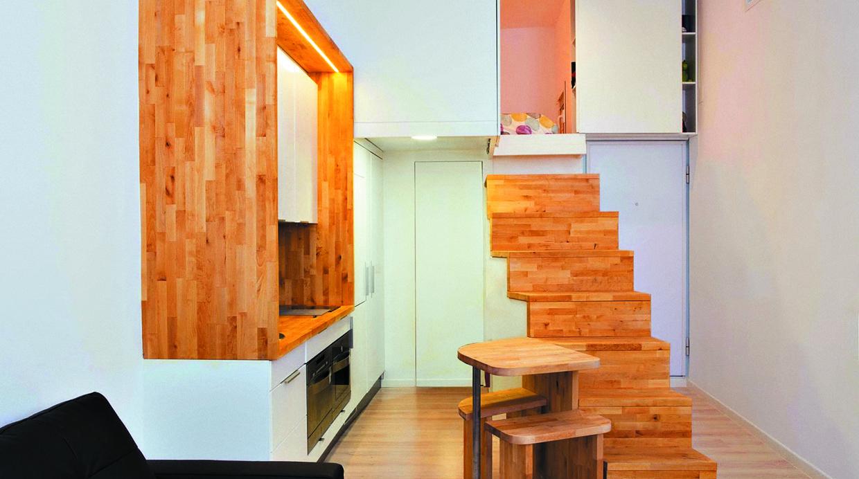 conecta los niveles de tu casa con escaleras para poco espacio
