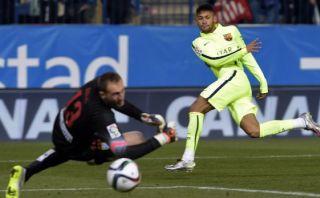 Neymar empató el marcador tras jugada entre Messi y Suárez