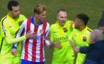 Neymar intentó un lujo y casi se arma bronca con el Atlético