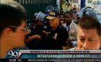 Casi agreden a Urresti en presentación de delincuentes (VIDEO)