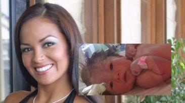 Adriana Zubiate alumbró ayer a Miranda, su primogénita