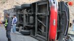 Choque entre un furgón y un tráiler dejó un muerto y un herido - Noticias de accidentes en carreteras
