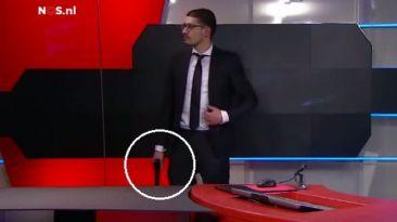 Pánico en Holanda: hombre armado entró a canal de TV [VIDEO]