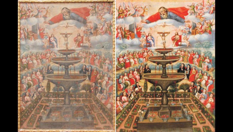 Obras de arte coloniales fueron restauradas: el antes y después