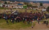 Bambamarca: rodearon helicóptero de comitiva de Ollanta Humala