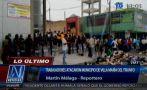 VMT: empleados atacaron municipio y lo llenaron de basura